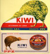 2 Buvards Cirage Kiwi, Le Cirage De Luxe. - Blotters