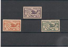 NOUVELLE CALÉDONIE   P.A.   Années 1942/43  N°Y/T: 29-31-33*/** - Poste Aérienne