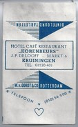 Suikerwikkel.- Embalage De Sucre. KRUININGEN. Hotel Café Restaurant - KORENBEURS - J.P, DE LOOFF, Markt 6. - Suiker