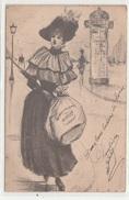 Dessin FEMME élégante 1904 TBE - Femmes