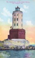 USA Picture Postcard Los Angeles (California) The Lighthouse At San Pedro Harbor - Fari