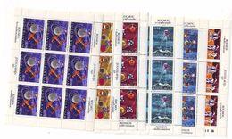 YUGOSLAVIA 1409-1414,unused Sheets - Space