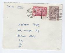 1965 SELANGOR Forces COVER SLOGAN Bola MERDEKA FOOTBALL TOURNAMENT  To GB Tiger Stamps Malaya Malaysia Sport - Selangor