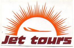 Jet Tours ETIQUETTE A BAGAGES Année 1972 - Étiquettes à Bagages