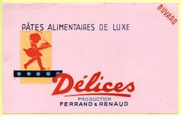 Buvard Pâtes Alimentaires Délices, Production Ferrand Et Renaud. - Buvards, Protège-cahiers Illustrés