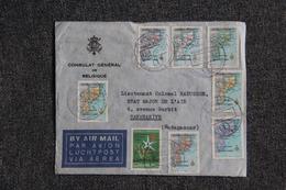 Timbre Sur Lettre Envoyée Du Consulat Général De BELGIQUE à MADAGASCAR - Marcophilie