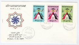 1977  LIBYA FDC Stamps REVOLUTION ANNIV Cover - Libya