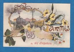 CPA - NICE - Amitiés Du 163e Régiment D' Infanterie - 1918 - Montage Avec Gare Train Petite Fille - Guerre 1914-18