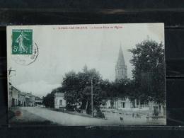F17 - 81 - Saint Paul Cap De Joux - La Grande Place De L' Eglise - - Saint Paul Cap De Joux