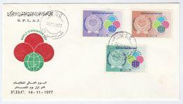 1977 LIBYA FDC Stamps WORLD STANDARDS DAY Cover - Libya