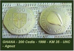 GHANA - 200 Cedis - 1998 - KM 35 - UNC - Agouz - Ghana