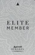 Marriott Elite Member Hotel Room Key Card - Hotel Keycards