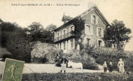 77 ORLY-SUR-MORIN - Villa Saint-Georges - Animée, Enfants, âne - France