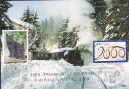 Transport De Courrier Par Wagon Postal - Chemin De Fer Touristique  Pontarlier-Vallorbe - Marcophilie (Lettres)