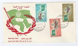 1970 LIBYA FDC Stamps ARAB LEAGUE Cover Flag - Libya