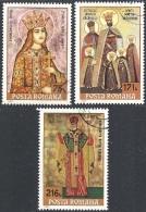 ROMANIA, 1993 Icons, Set Of 3v # Michel 4918-20 - Scott 3852-54   - Used - 1948-.... Républiques