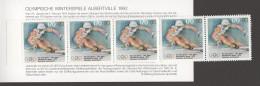 1992  Olympia-Markenheftchen  Ski Alpin - Slalom   MiNr 1595 X5 Postfrisch - [7] Federal Republic