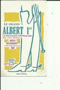 Carte De Visite De Hotel- Restaurant Bar_LE GRAND ALBERT 1er A MAISONS-ALFORTS 94  Voir Scan Details - Cartoncini Da Visita