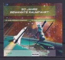 """ONU VIENNA 2011: 2 Valori In Blocco Del Foglietto BF44 MNH/** """"Space Shuttle Usa E Soyuz Russa"""" - Vienna - Ufficio Delle Nazioni Unite"""