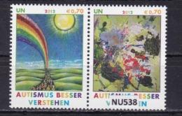 """ONU VIENNA 2012: 2 Valori In Coppia MNH/** Della Serie """"Comprendere Meglio L'autismo"""" - Vienna - Ufficio Delle Nazioni Unite"""