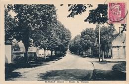 Carte De MASSAY  Route De Vierzon  ( Recto Verso ) - Massay