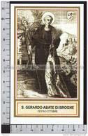 Xsa-41-22 S. San GERARDO ABATE DI BROGNE LOMANCENSIS SAINT-DENIS MAREDSOUS Santino Holy Card - Religione & Esoterismo