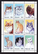 Tanzania, Scott #1436, Mint Never Hinged, Cats, Issued 1996 - Tanzania (1964-...)