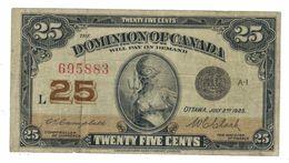 Dominion Of Canada,  25 Cents, 1923, F/VF. Rare. - Canada