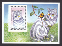 Tanzania, Scott #1438, Mint Never Hinged, Cat, Issued 1996 - Tanzania (1964-...)
