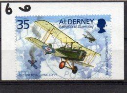 ALDERNEY 1995 Tommy Rose 35p Used Royal Aircraft Factory - Alderney