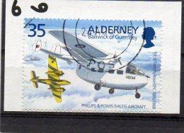 ALDERNEY 1995 Tommy Rose 35p Used Miles Aerovan - Alderney