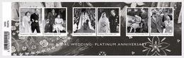 GROSSBRITANNIEN GRANDE BRETAGNE GB 2017 ROYAL WEDDING: PLATINUM ANNIVERSARY SG MS4032 MI B111-4135-40 YT F4537-42 SC 368 - Nuovi