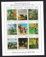 Tanzania, Scott #1432-1433, Mint Never Hinged, Paintings, Issued 1996 - Tanzania (1964-...)