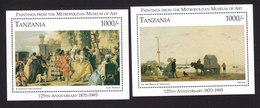 Tanzania, Scott #1434-1435, Mint Never Hinged, Paintings, Issued 1996 - Tanzania (1964-...)