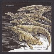 Tanzania, Scott #1470, Mint Never Hinged, Crocodiles And Aligators, Issued 1996 - Tanzania (1964-...)
