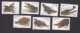 Tanzania, Scott #1463-1469, Mint Hinged, Crocodiles And Alligators, Issued 1996 - Tanzania (1964-...)
