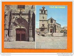 Vila Do Conde 1960 Years Portugal Igreja Church église Views Postcard - Porto