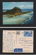 POSTCARD STAMP MAURITIUS ILE MAURICE 1971 Stamp Air Mail BLUE MARLIN Fish Z1 - Postcards