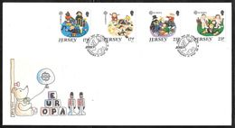 Jersey - 1989 Europa / CEPT - Children's Games & Toys - Illustrated FDC - Jersey