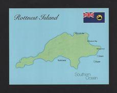ART POSTCARD AUSTRALIA ROTTNEST ISLAND Maps Map SOUTHERN OCEAN Z1 - Postcards