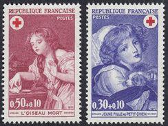 FRANCE Francia Frankreich -  1971 - Serie Completa Yvert 1700/1701 Nuova MNH; Pro Croce Rossa. - France