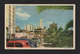 SÃO PAULO Postcard 1950 Years Classic Cars Car Automobiles BRAZIL BRASIL Z1 - Unclassified