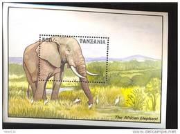 TANZANIA   1029  MINT NEVER HINGED SOUVENIR SHEET OF ANIMALS ; ELEPHANT - Timbres
