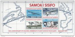 SAMOA, 1977 LINDBERGH MINISHEET MNH - Samoa