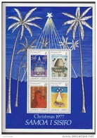 SAMOA, 1977 XMAS MINISHEET MNH - Samoa
