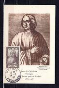 """"""" JEAN DE GERSON """" Sur Carte Maximum De 1946. Numérotée Maximaphiles Français. N° YT 769. Voir Les 2 Scans. CM - Cartes-Maximum"""