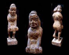Ancien Paysan Birman / Vintage Burmese Statue - Art Asiatique