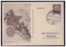 WKII Luxemburg (005056) Propagandaganzsache P5/02 Gebirgsjäger, Blanco Gestempelt Ulm Mit SST Am 12.1.1941 - Besetzungen 1938-45