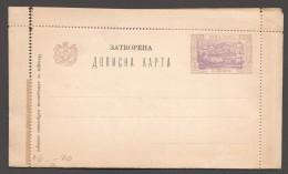1897   Lettercard  Unused  - Some Separation - Montenegro