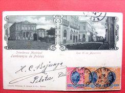 Brésil ,lembranças De Pelotas ,intendencia Municipal ,rua 15 De Novembro Début 1900......timbres Et Cachets - Brésil